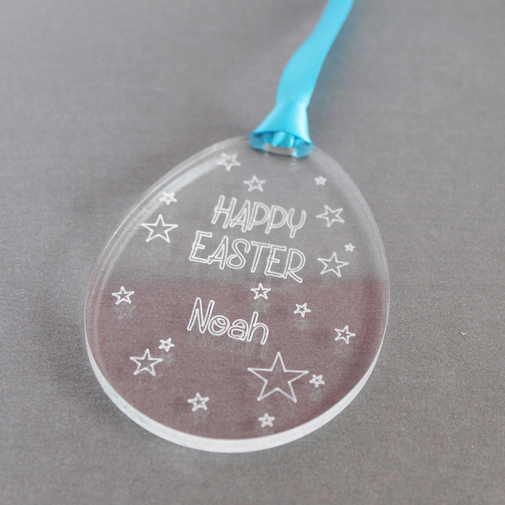 Personalised Easter Egg with Stars | Hanging Keepsake
