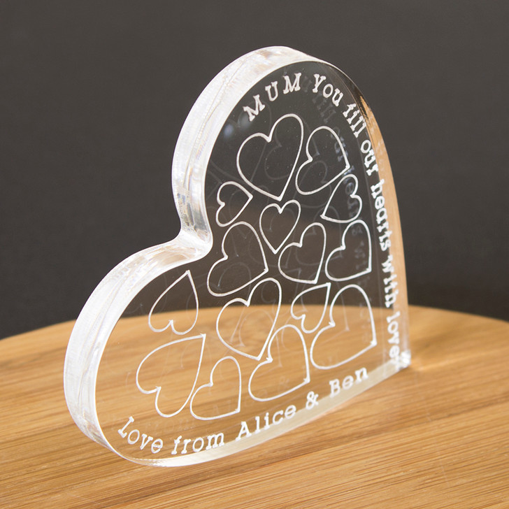 Personalised Chunky Love Hearts Keepsake