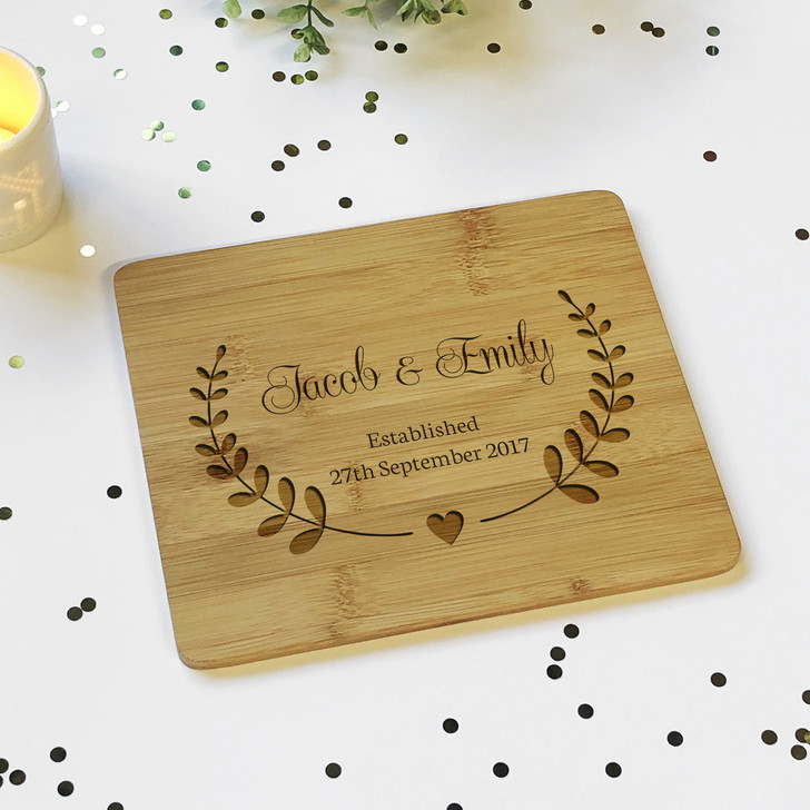 Personalised Couples Names & Est. Since Wooden Plaque Board