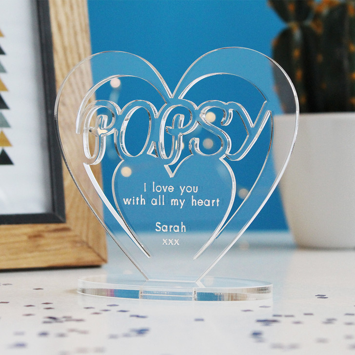 POPSY Personalised Birthday HEART Plaque Gift For Him Keepsake Ornament Christmas Present