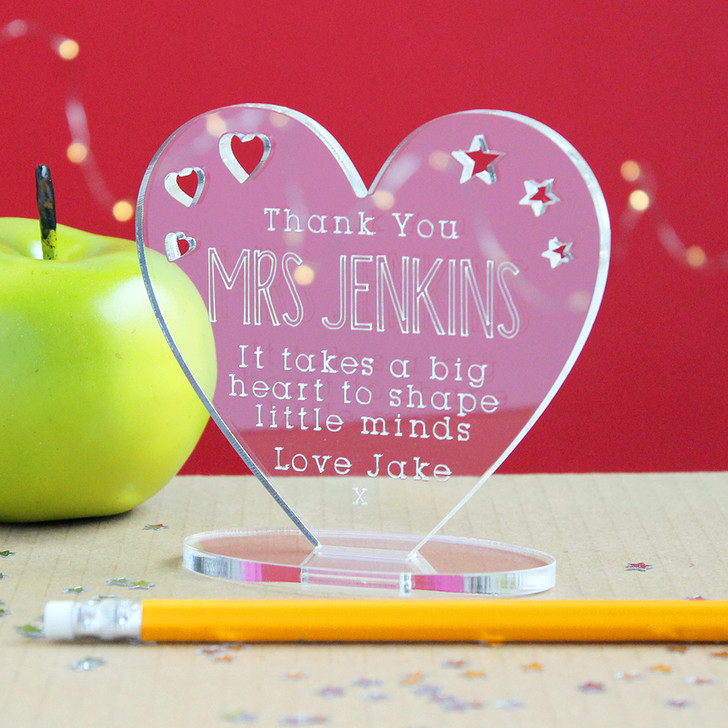 Personalised Teacher Gift - It Takes A Big Heart To Shape Little Minds