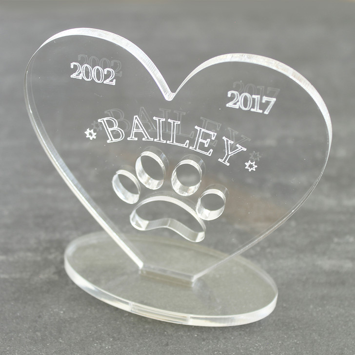 Personalised Pet Memorial Keepsake Plaque