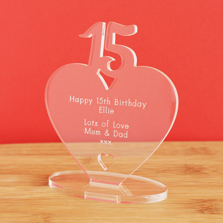 15th Milestone Birthday Personalised Keepsake