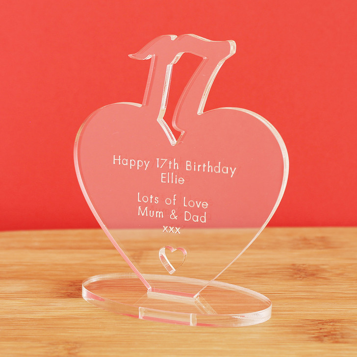 17th Milestone Birthday Personalised Keepsake