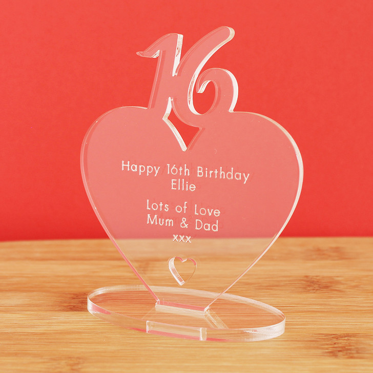 16th Milestone Birthday Personalised Keepsake