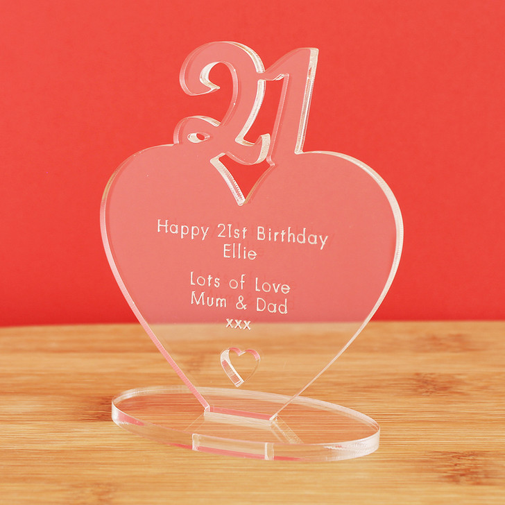 21st Milestone Birthday Personalised Keepsake