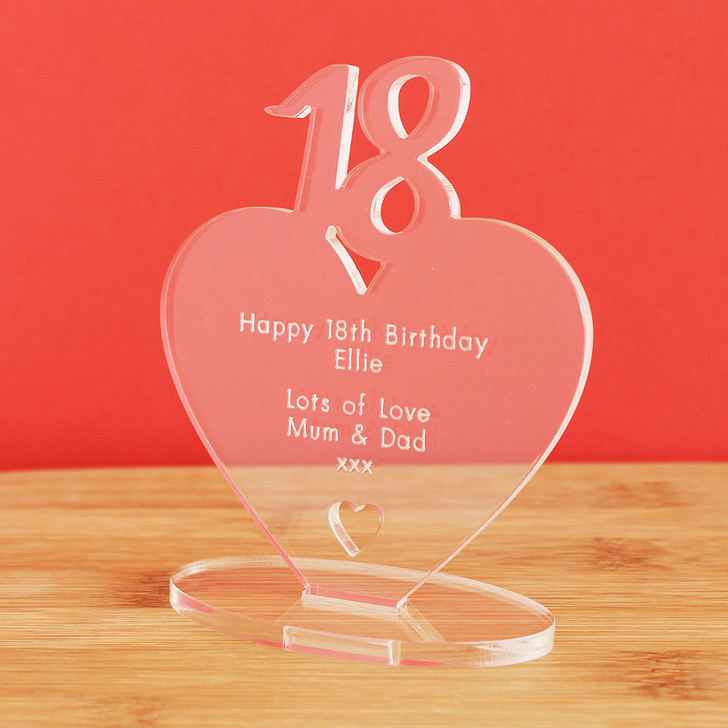 18th Milestone Birthday Personalised Keepsake