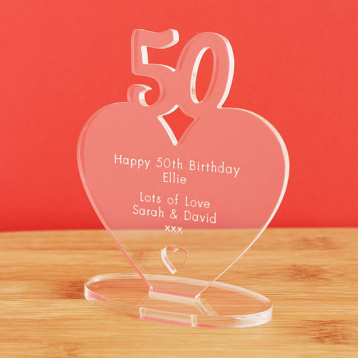 50th Milestone Birthday Personalised Keepsake