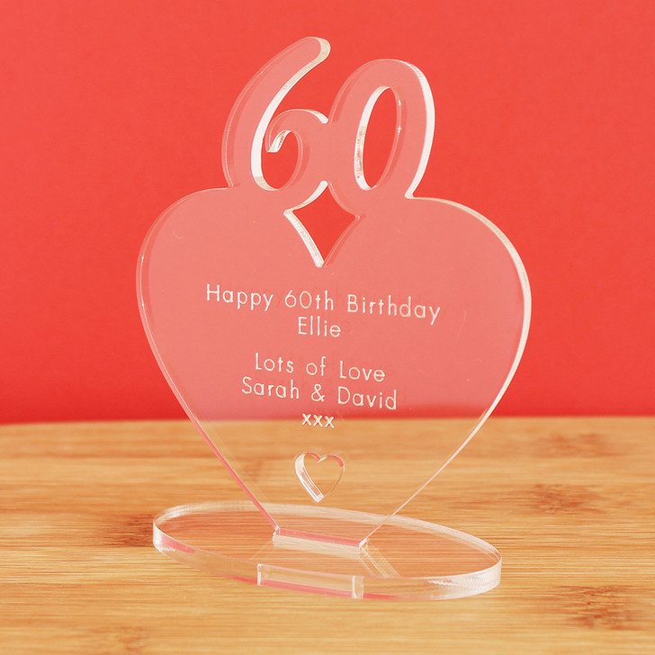 60th Milestone Birthday Personalised Keepsake