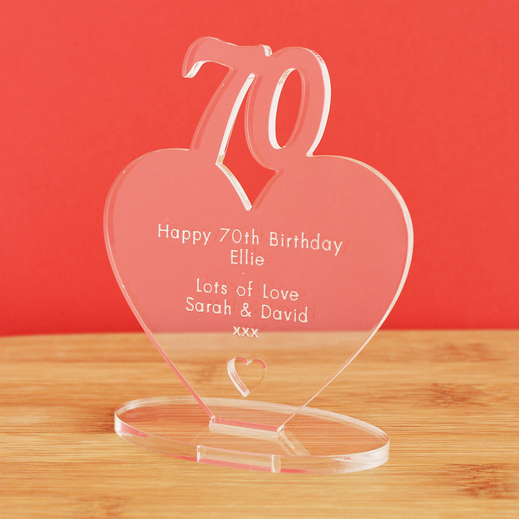 70th Milestone Birthday Personalised Keepsake