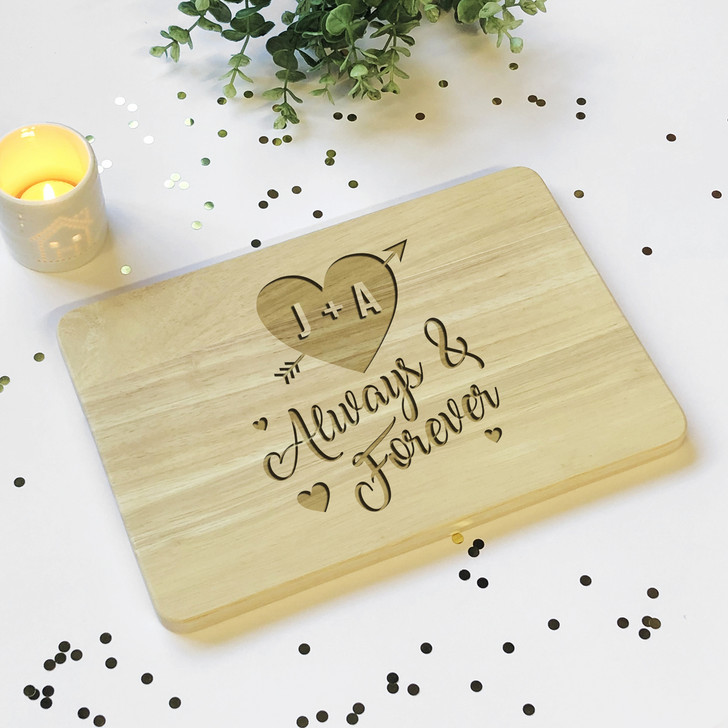 You + Me Always & Forever Wooden Plaque Board