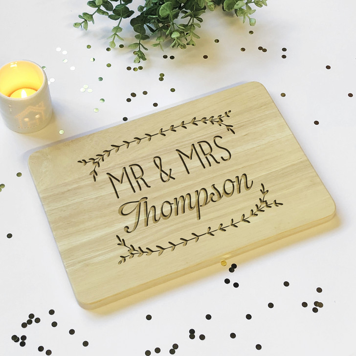 Mr & Mrs Surname Wooden Board | Plaque Sign
