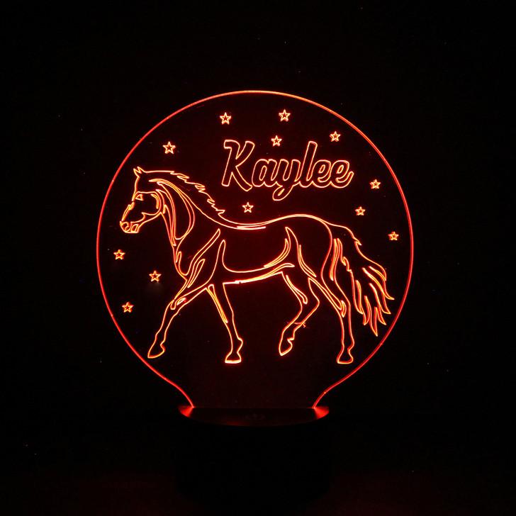 Horse Riding Kids Bedroom Personalised LED Night Light