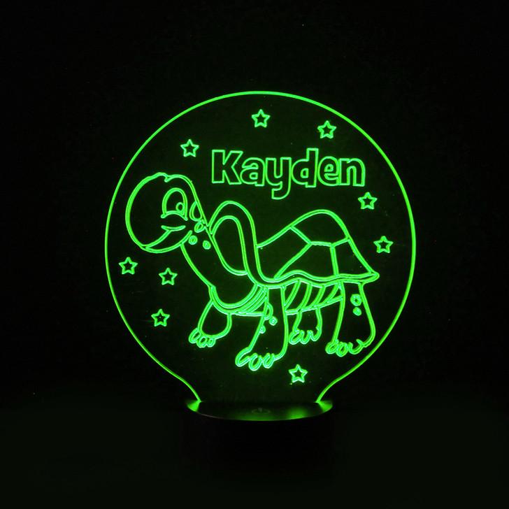 Tortoise Kids Bedroom Personalised LED Night Light