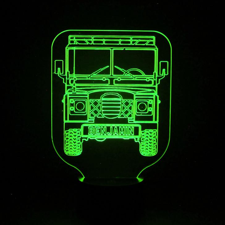 Land Rover Defender Kids Bedroom Personalised LED Night Light