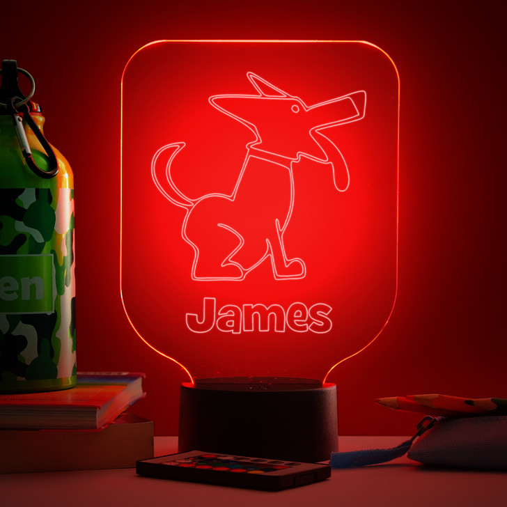 Personalised Dog Night Light, Colour Changing Lamp For Kids Bedroom