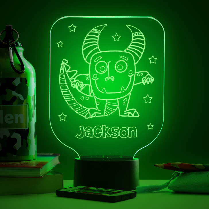 Personalised Cartoon Monster Night Light, Colour Changing Lamp For Kids Bedroom
