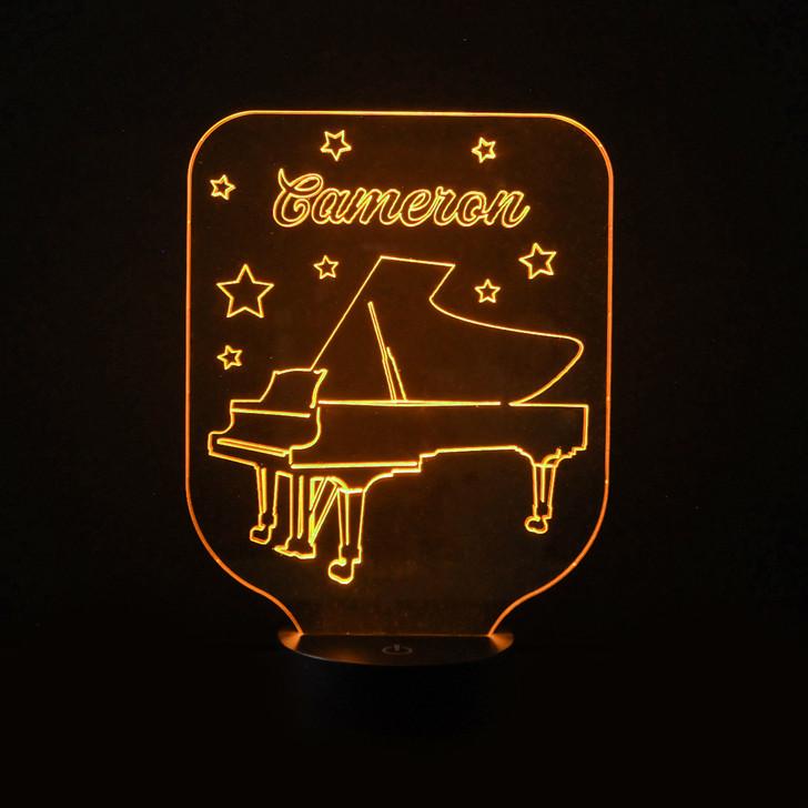 Piano Kids Bedroom Personalised LED Night Light