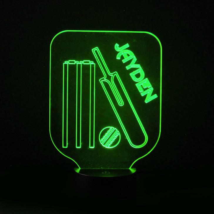 Cricket Kids Bedroom Personalised LED Night Light