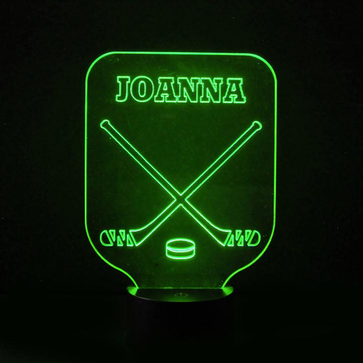 Ice Hockey Kids Bedroom Personalised LED Night Light