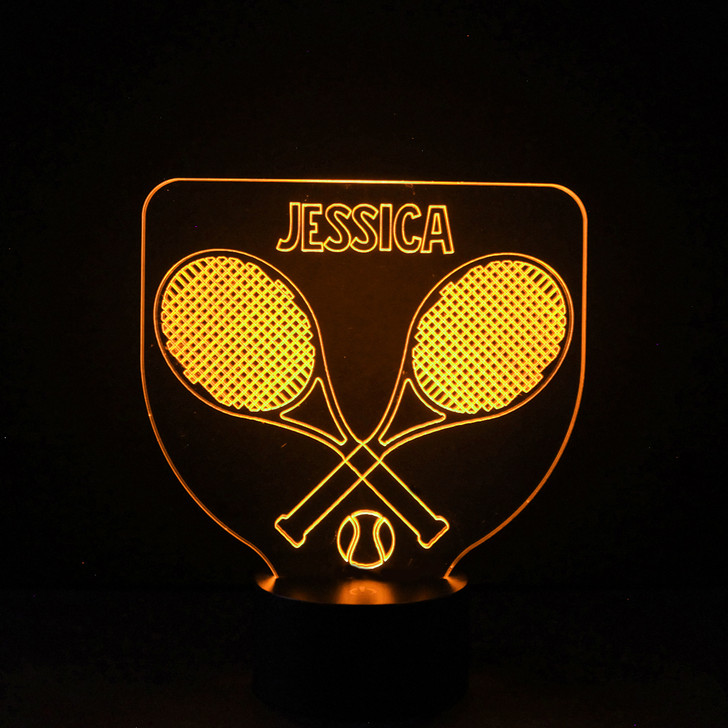 Personalised Tennis Night Light, Colour Changing Lamp For Kids Bedroom