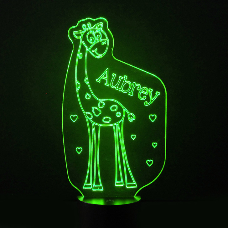 Giraffe Kids Bedroom Personalised LED Night Light