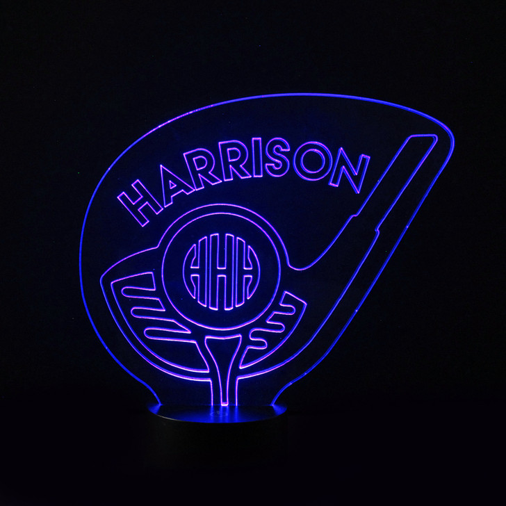 Personalised Golf Tee Night Light, Colour Changing Golf Lamp For Kids Bedroom