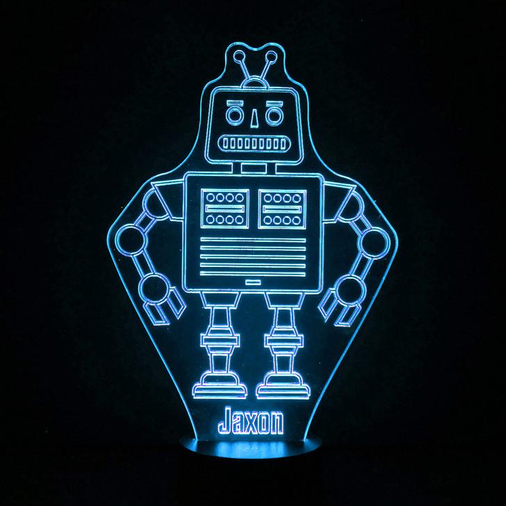 Robot Kids Bedroom Personalised LED Night Light