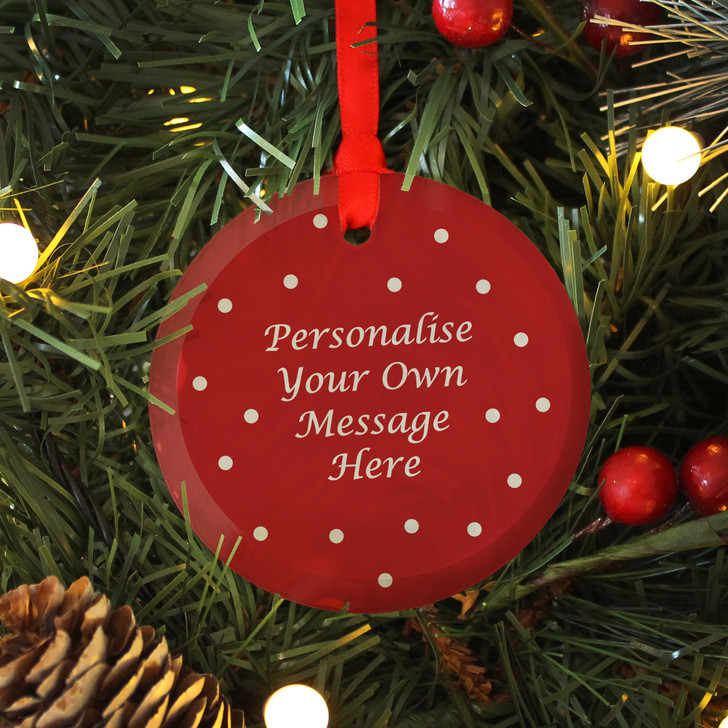 Personalise Your Own Message Glass Christmas Decoration Bauble