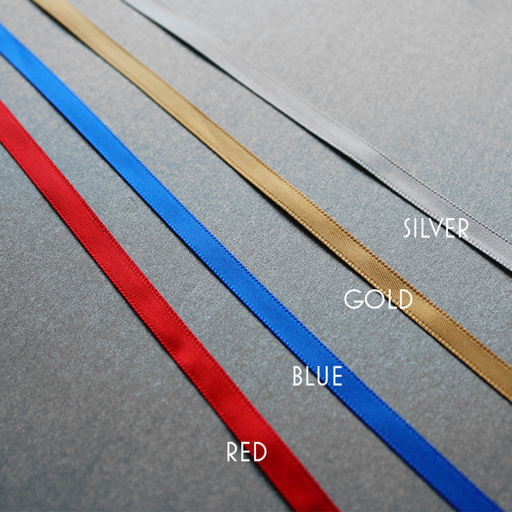 Ribbon Options: Red, Blue, Gold or Silver