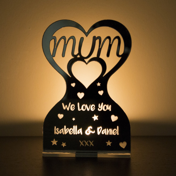 Personalised Mirrored Tealight Candle Holder For Her