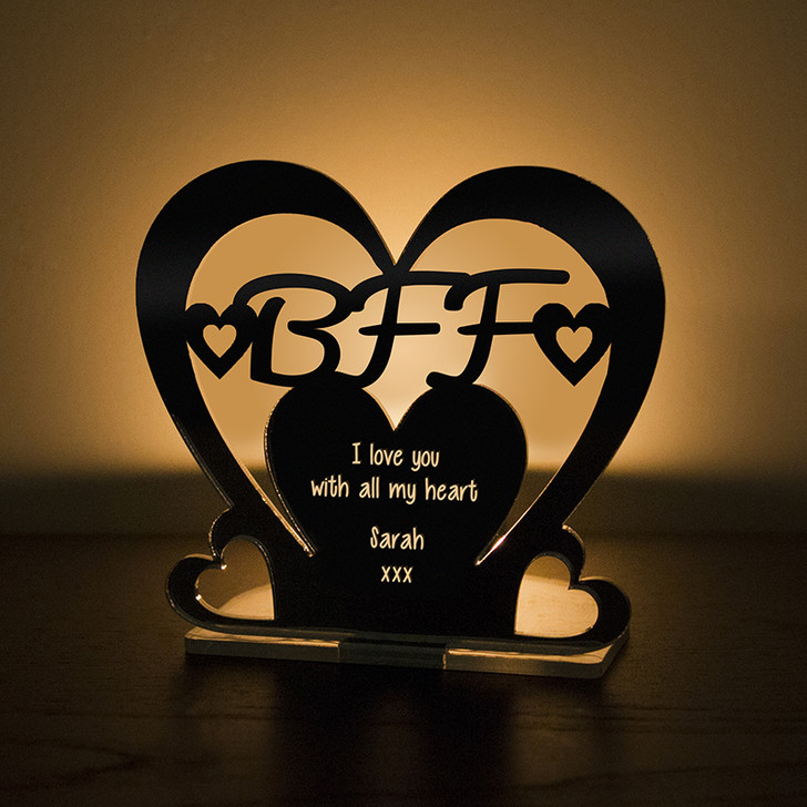 Personalised Tealight Candle Holder For BFF Best Friend Forever