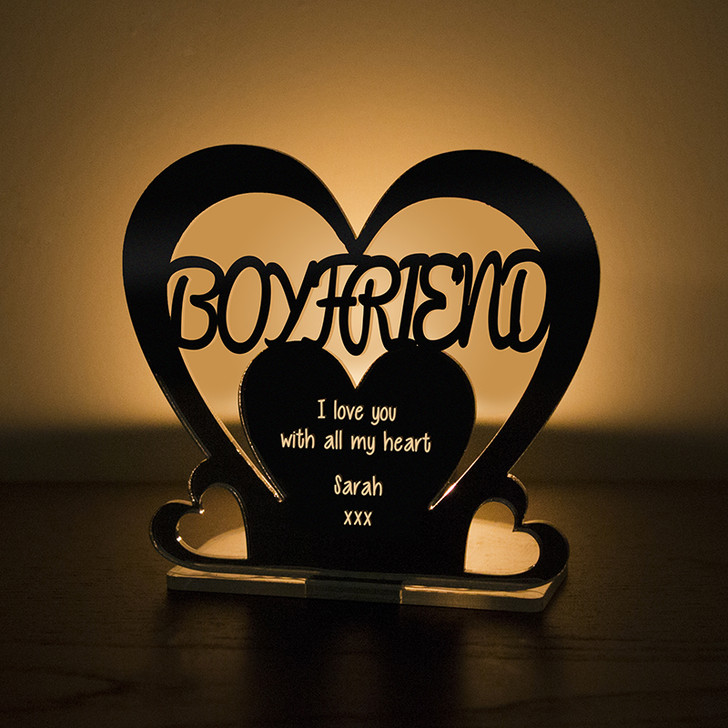 Personalised Tealight Candle Holder For BOYFRIEND