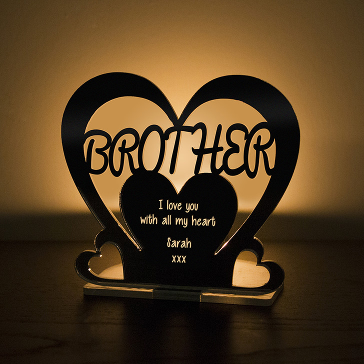 Personalised Tealight Candle Holder For BROTHER