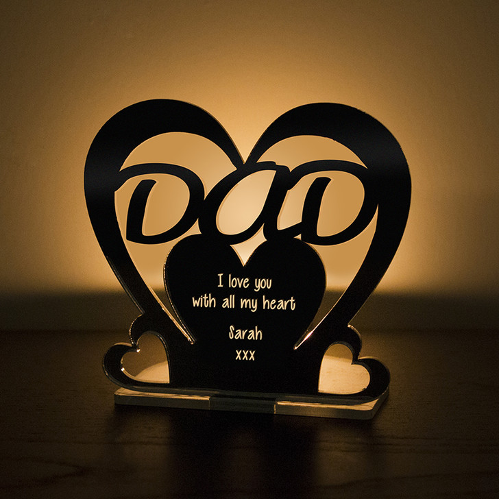 Personalised Tealight Candle Holder For DAD