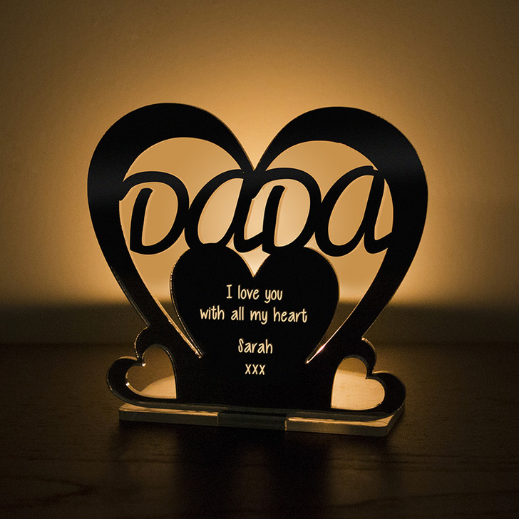 Personalised Tealight Candle Holder For DADA