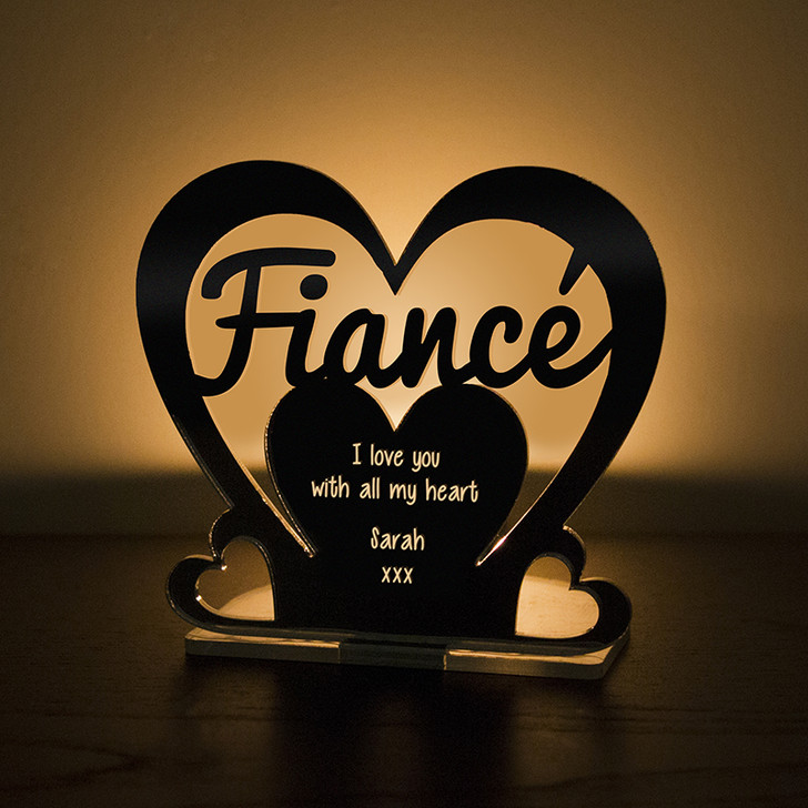 Personalised Tealight Candle Holder For FIANCÉ