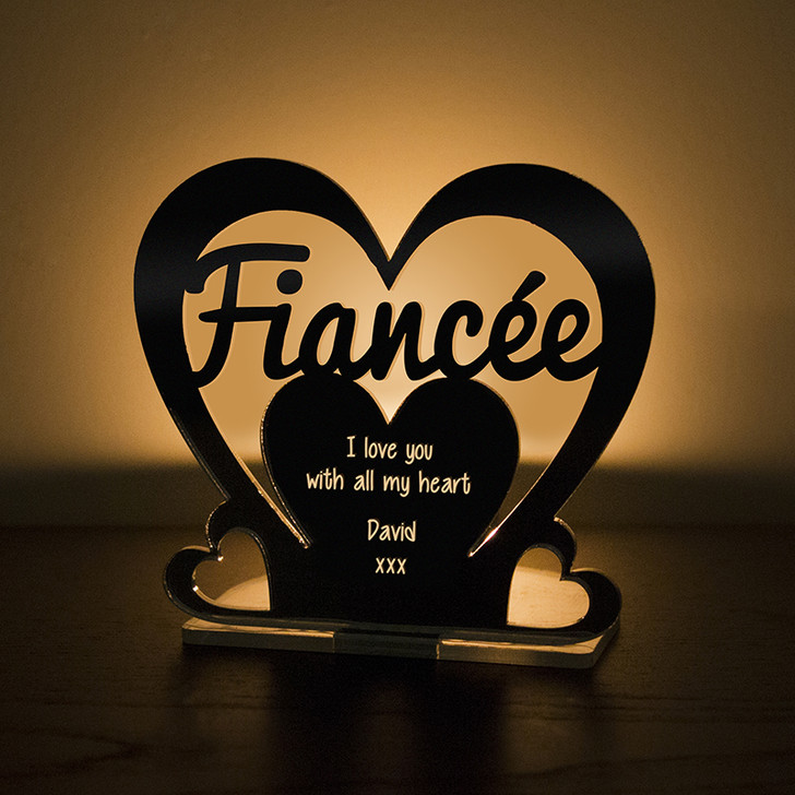 Personalised Tealight Candle Holder For FIANCÉE