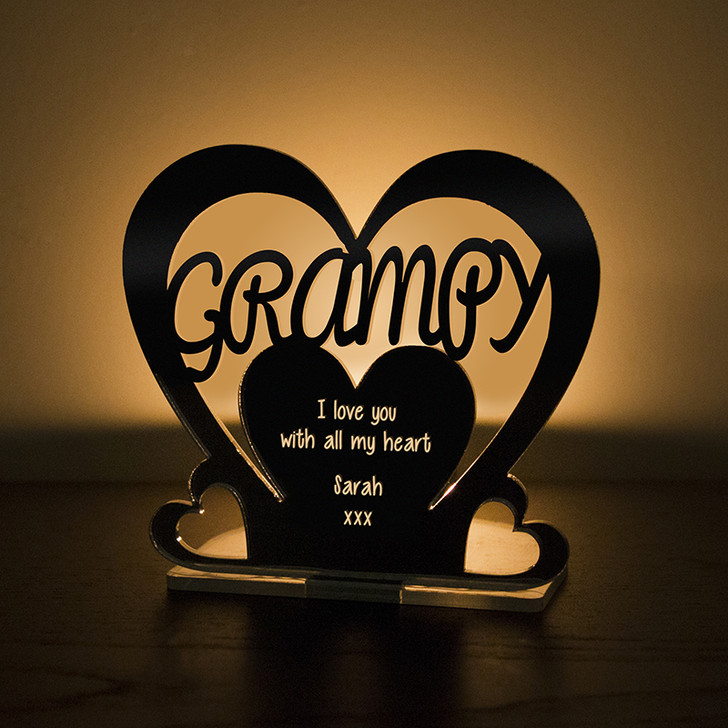 Personalised Tealight Candle Holder For GRAMPY