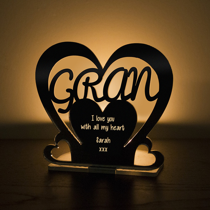 Personalised Tealight Candle Holder For GRAN