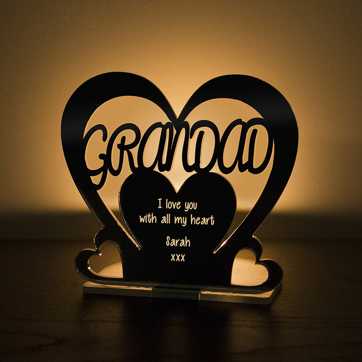 Personalised Tealight Candle Holder For GRANDAD