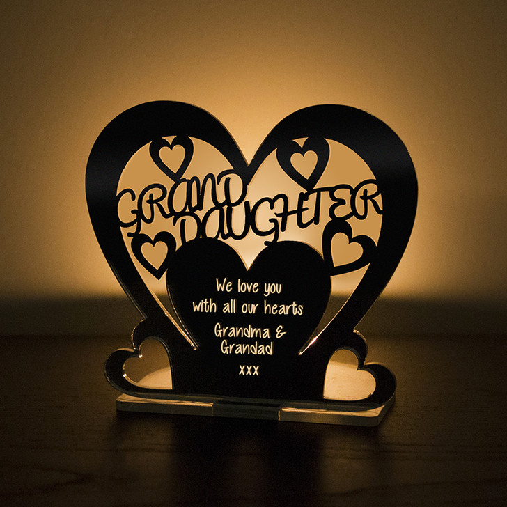 Personalised Tealight Candle Holder For GRAND DAUGHTER