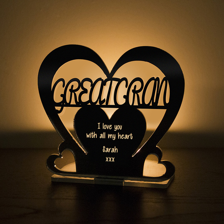 Personalised Tealight Candle Holder For GREAT GRAN