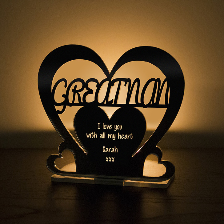 Personalised Tealight Candle Holder For GREAT NAN