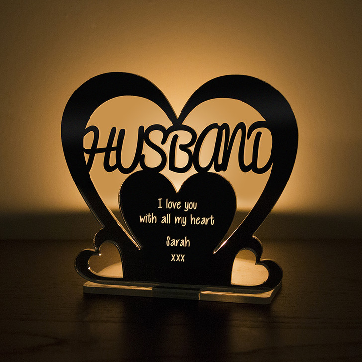 Personalised Tealight Candle Holder For HUSBAND