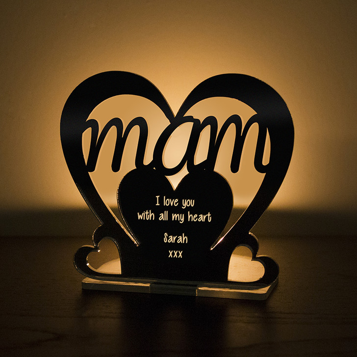 Personalised Tealight Candle Holder For MAM