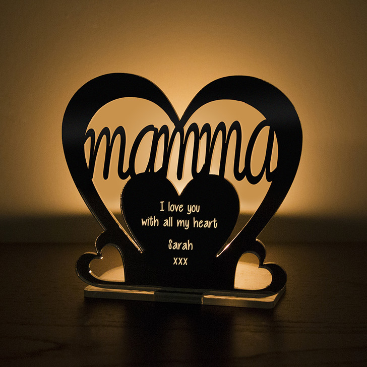 Personalised Tealight Candle Holder For MAMMA