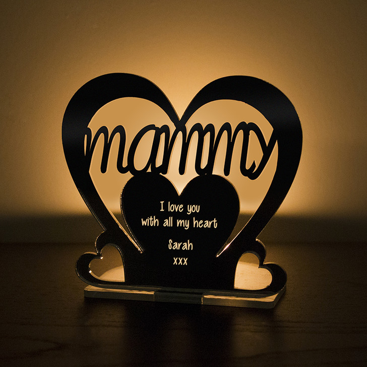 Personalised Tealight Candle Holder For MAMMY