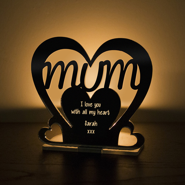 Personalised Tealight Candle Holder For MUM