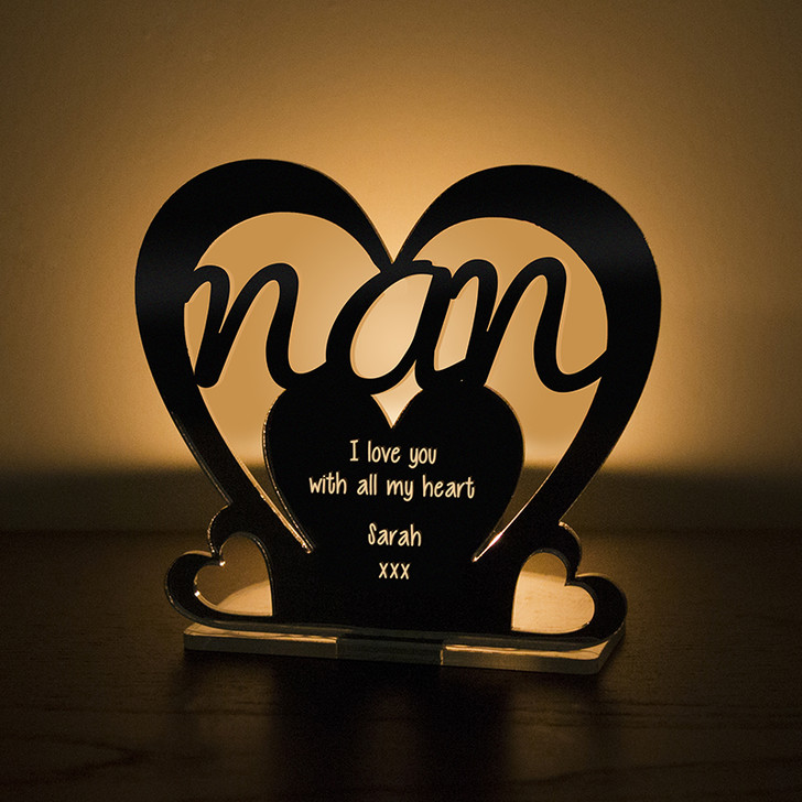 Personalised Tealight Candle Holder For NAN